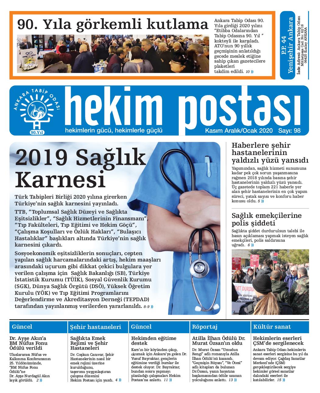 Hekim Postası Kasim 2019-Ocak 2020